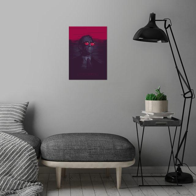 Nightcrawler - alternative movie poster wall art is showcased in interior