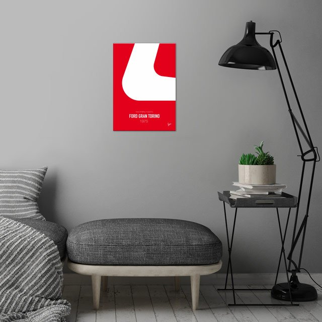 No003 My starsky and hutch minimal movie car poster —... wall art is showcased in interior