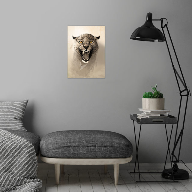 Leopard. wall art is showcased in interior