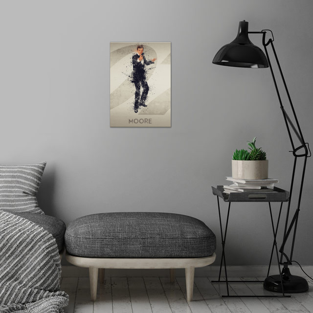 Moore – Bond actor's series 3/6. A combination of 6 prints to make one larger bond theme artwork, or leave as a separate piece. wall art is showcased in interior