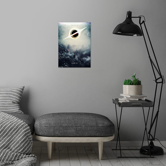 My design/painting/composition of a fictional coming so... wall art is showcased in interior