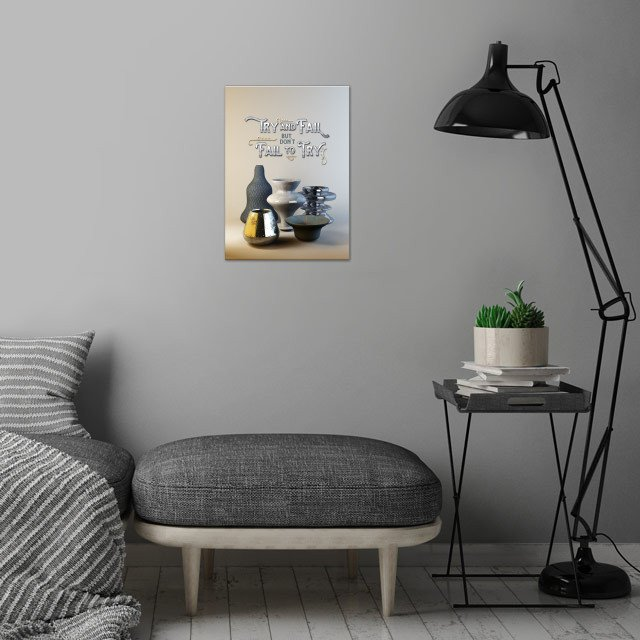 Try  wall art is showcased in interior