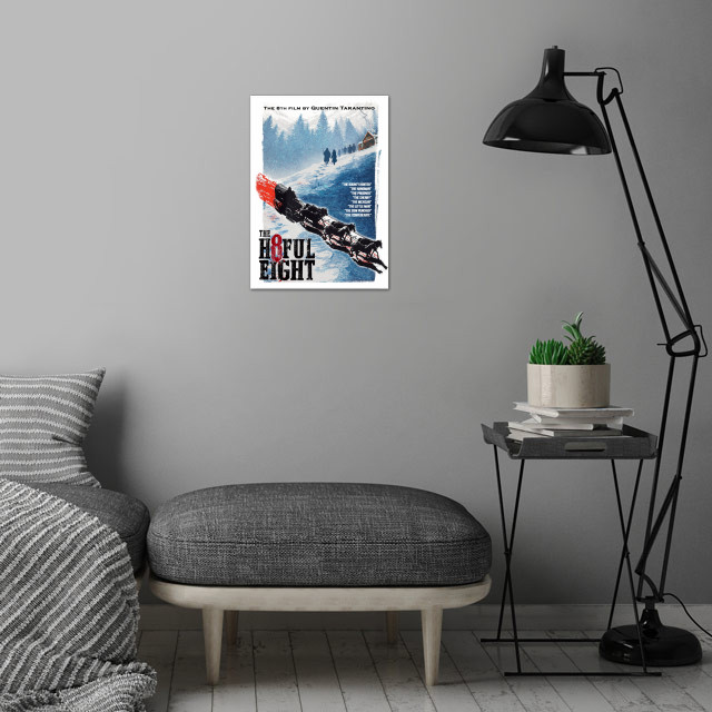 My own movie poster of Quentin Tarantino's Hatefull eig... wall art is showcased in interior
