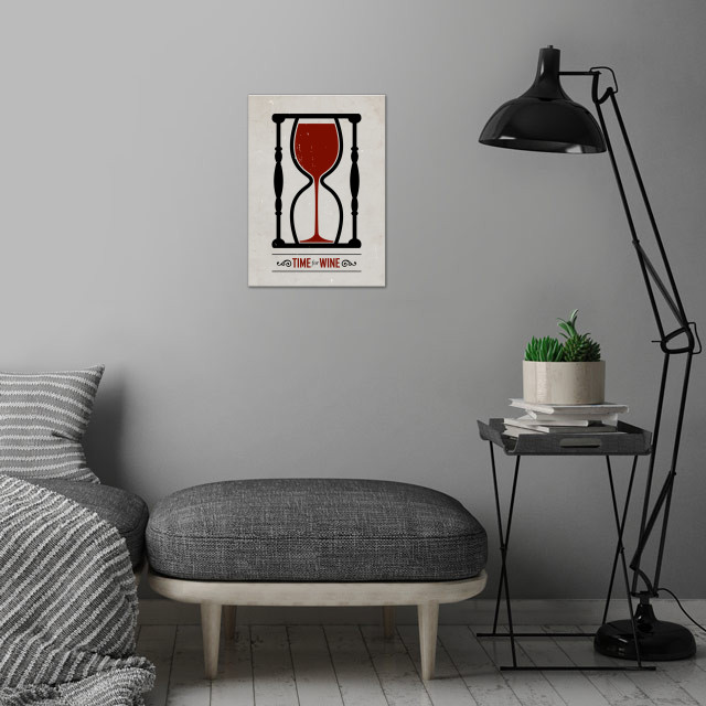 Time for wine.  wall art is showcased in interior