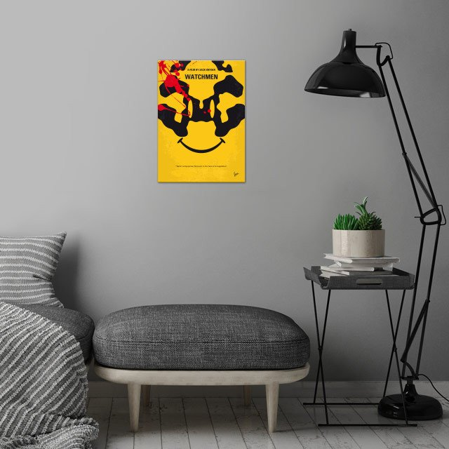No599 My watchmen minimal movie poster  In an alternate... wall art is showcased in interior