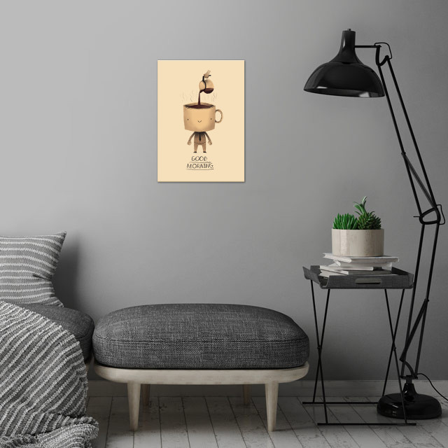 need dat morning coffee! wall art is showcased in interior