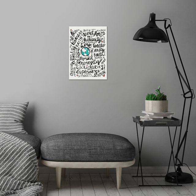 World Positive Messages wall art is showcased in interior