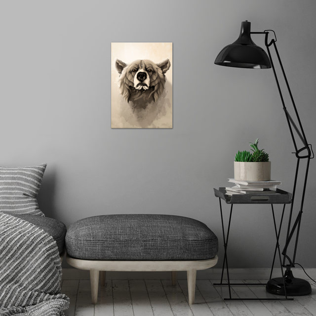 'Wild Animals' serie. wall art is showcased in interior