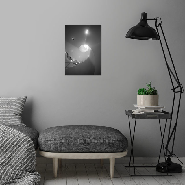 Stockmann spiral wall art is showcased in interior
