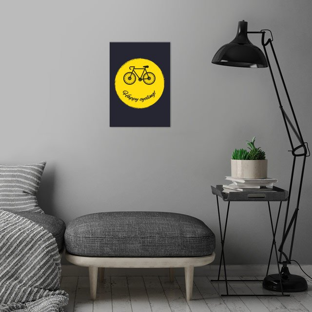 Happy cycling!  wall art is showcased in interior