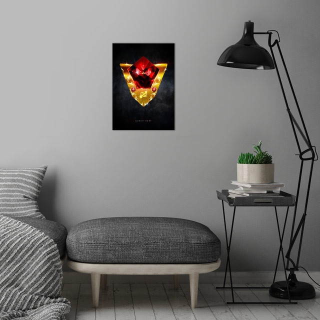 My rendition of a realistic Goron Ruby inspired from Th... wall art is showcased in interior