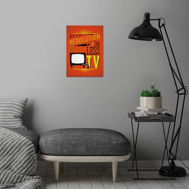 Watch less TV - New Year's Resolution 8/12.  wall art is showcased in interior