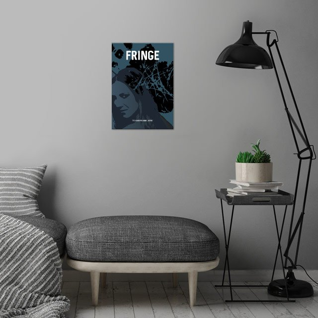 A minimalistic poster for the TV show Fringe. Enjoy! wall art is showcased in interior