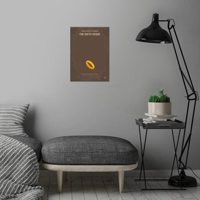 No638 My The Sixth Sense minimal movie poster  A boy wh... wall art is showcased in interior