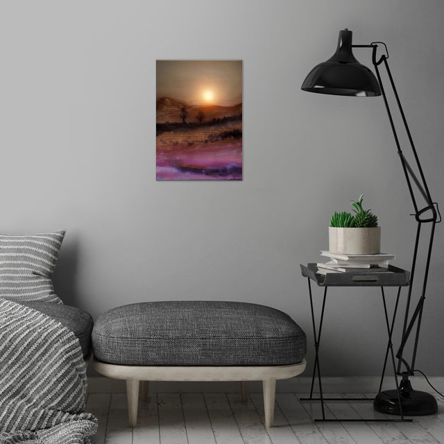 Calling The Sun V wall art is showcased in interior