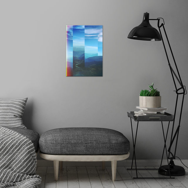 Fractions A02 wall art is showcased in interior