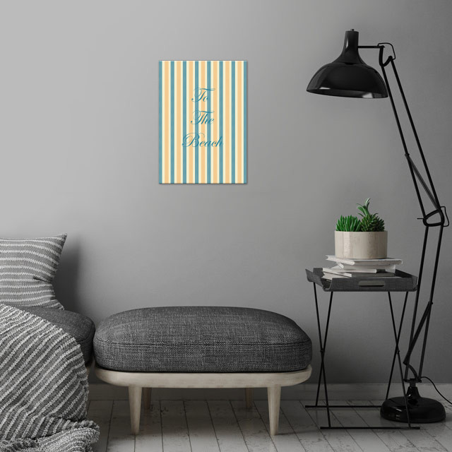 To The Beach wall art is showcased in interior