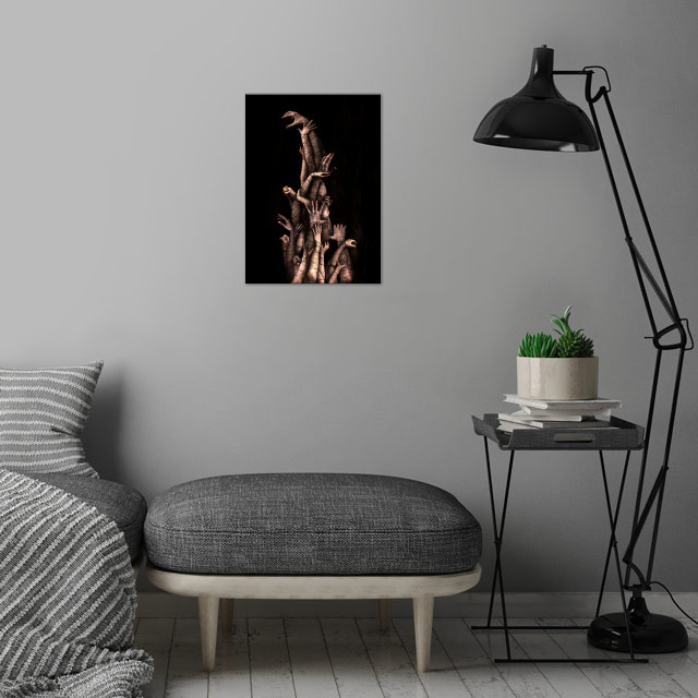 Bound wall art is showcased in interior