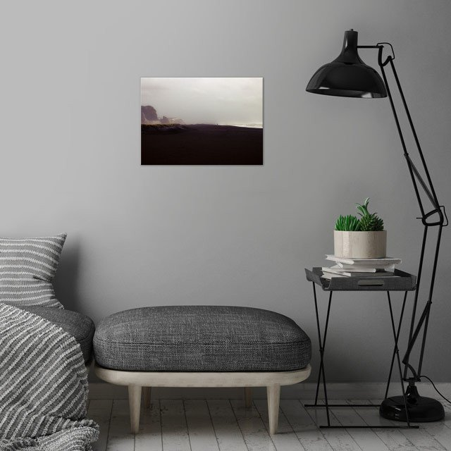 Alone wall art is showcased in interior