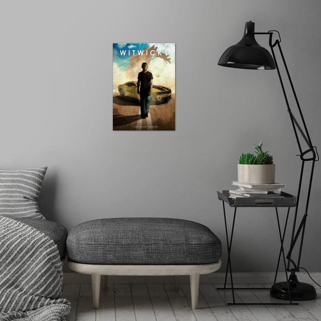Witwicky wall art is showcased in interior