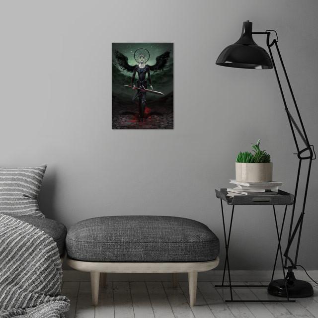 Simikiel - Angel of Vengeance wall art is showcased in interior