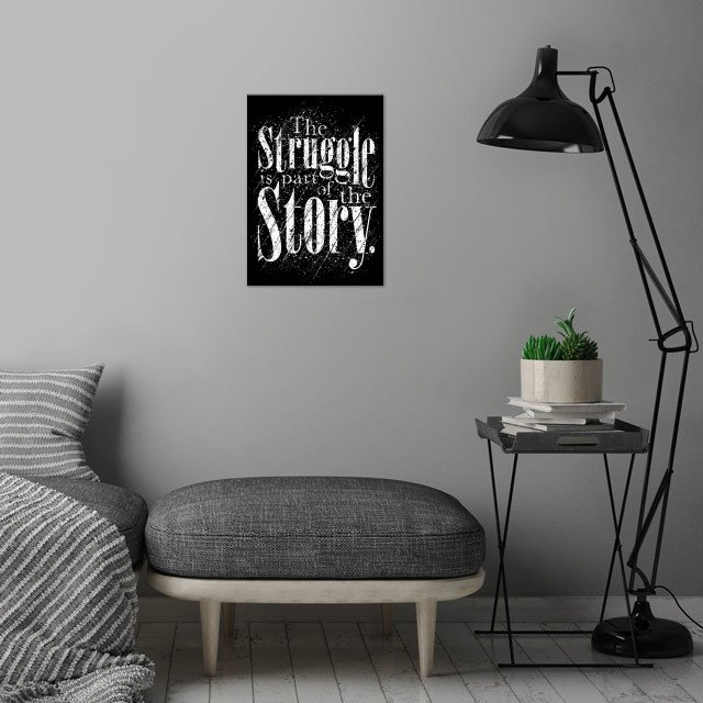 The Struggle wall art is showcased in interior