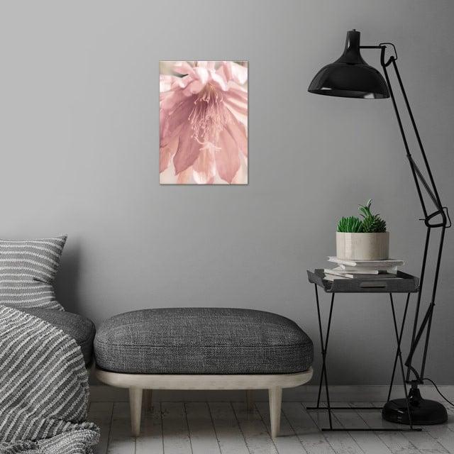 flower in spring season wall art is showcased in interior