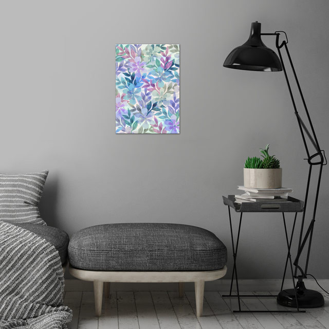 watercolor Botanical garden I wall art is showcased in interior