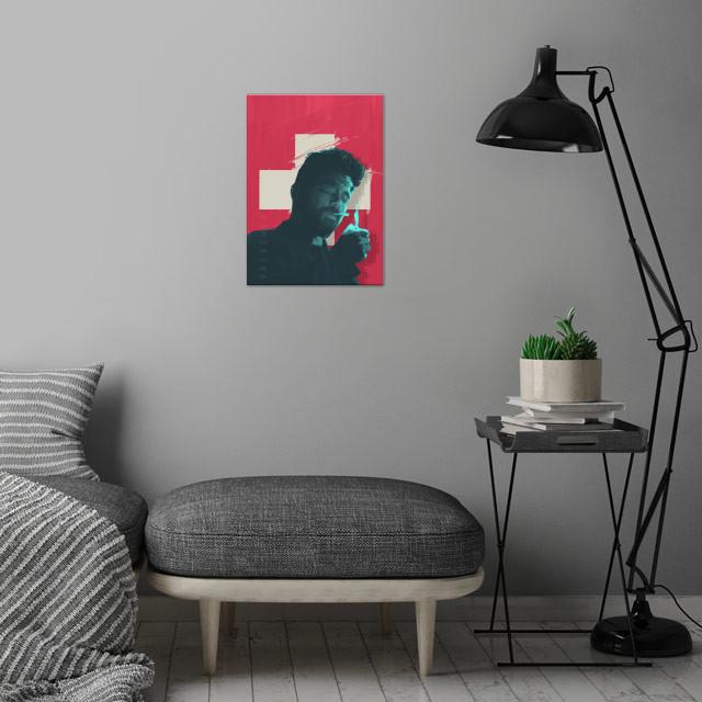 Preacher series - alternative poster wall art is showcased in interior