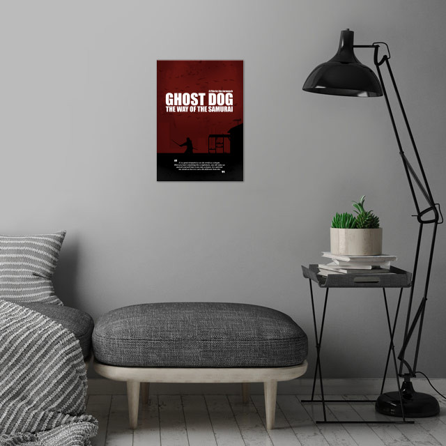Ghost Dog - The Way of the Samurai. Minimal Movie Poster. A Film by Jim Jarmusch. wall art is showcased in interior