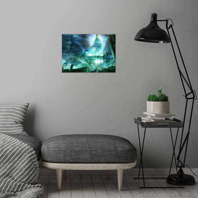 Concept Art of Final Fantasy 7, Cloud going to the Shin... wall art is showcased in interior