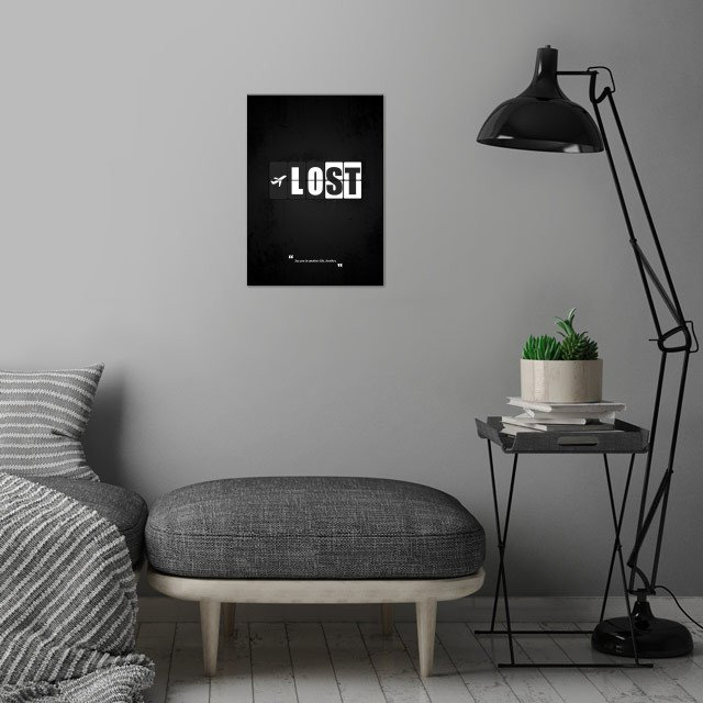 Lost - Minimal TV Series Poster. wall art is showcased in interior