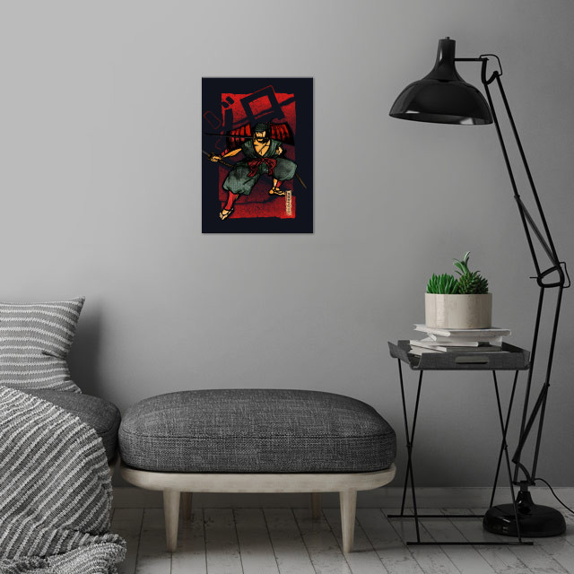 Samurai | Zoro the pirate hunter wall art is showcased in interior