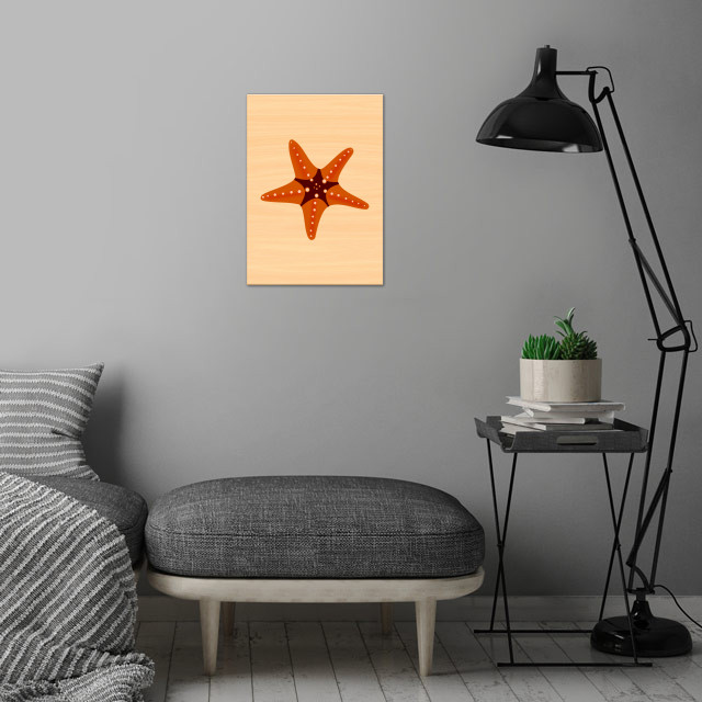 Sea Star 1 wall art is showcased in interior