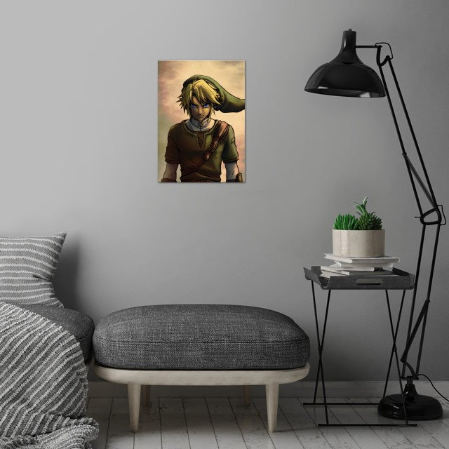 Link wall art is showcased in interior