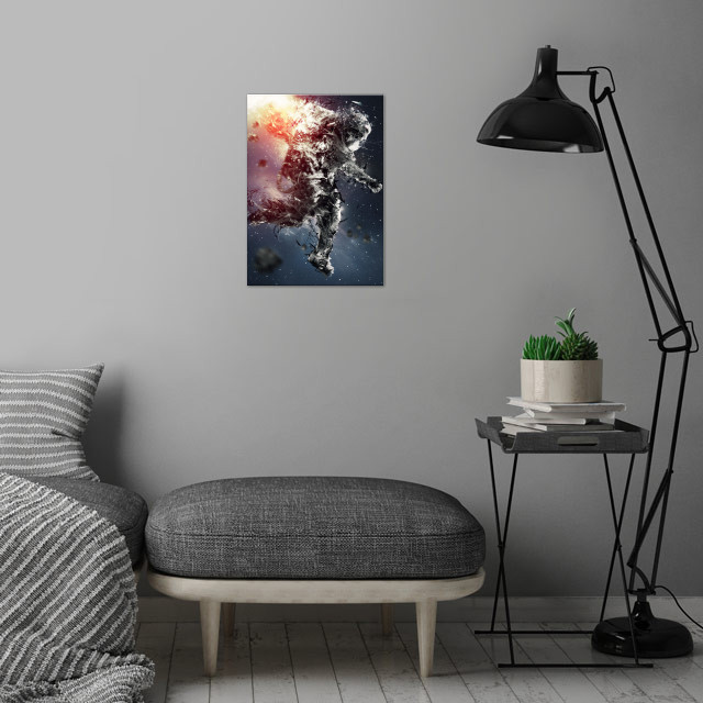 Astro-Not wall art is showcased in interior