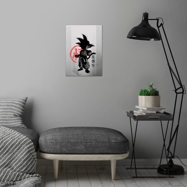 Young Saiyan wall art is showcased in interior