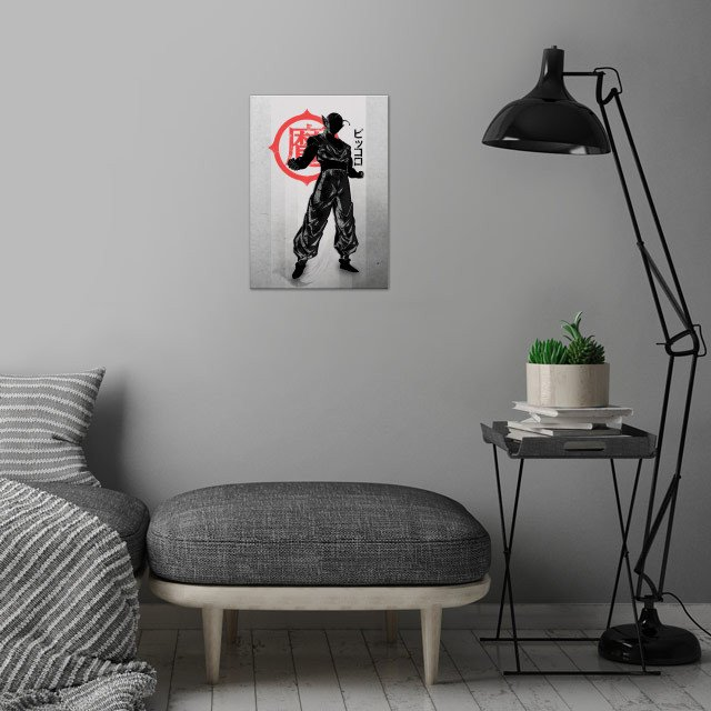 Saiyans Friend wall art is showcased in interior