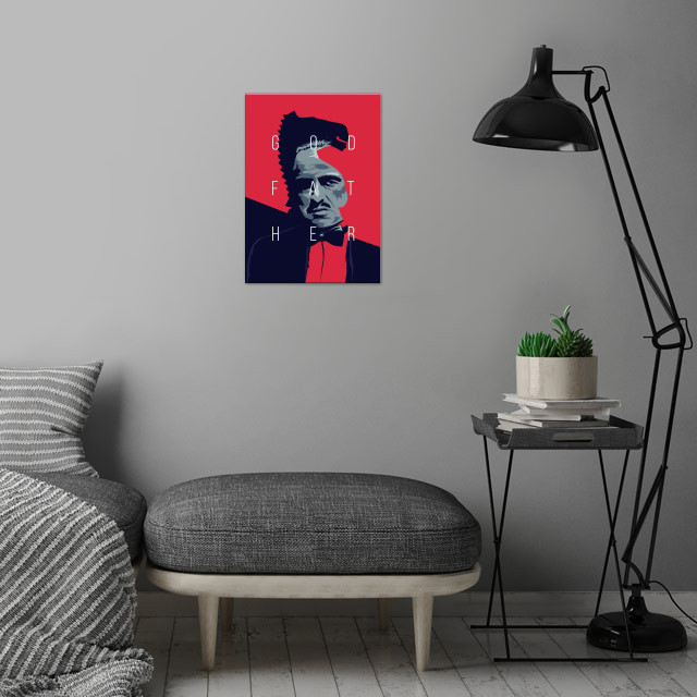 Godfather wall art is showcased in interior
