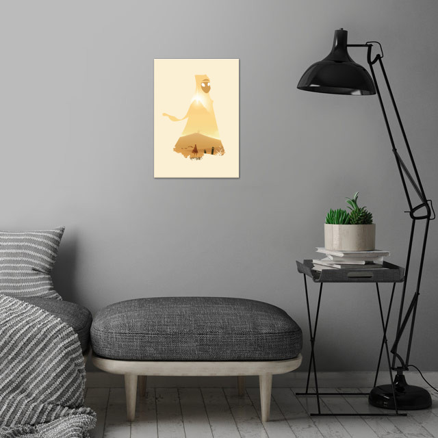 The wanderer wall art is showcased in interior