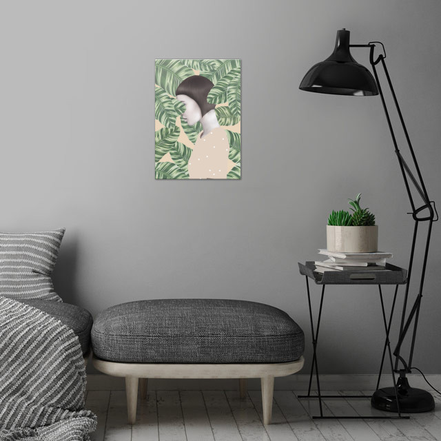 floral acrylpainting  wall art is showcased in interior