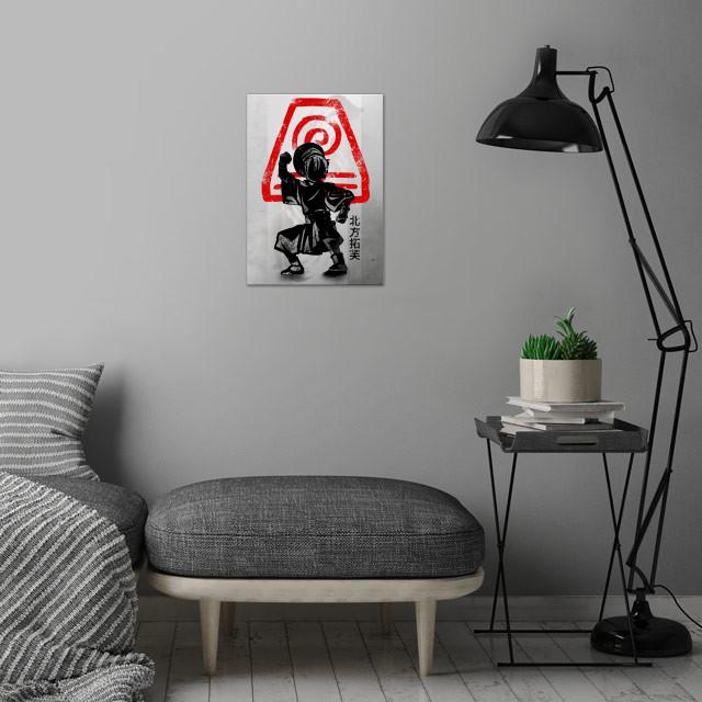 Earth Bending | Crimson Toph wall art is showcased in interior