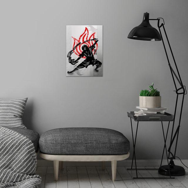 Fire Bending | Crimson Zuko wall art is showcased in interior