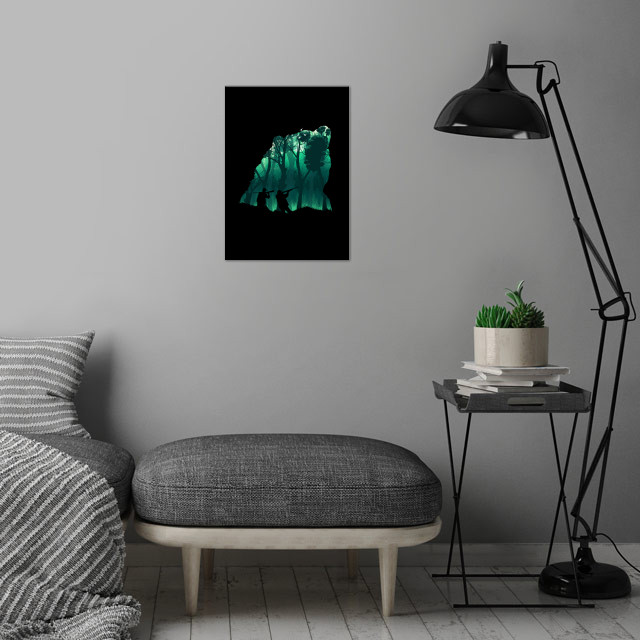 Revenge of the Wild wall art is showcased in interior