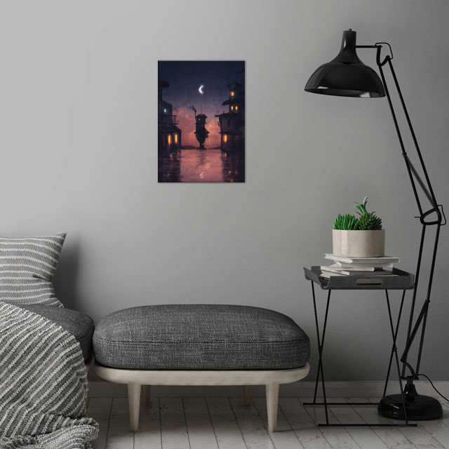 Blankets of Night wall art is showcased in interior