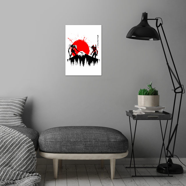 tribute cult  characters anime wall art is showcased in interior