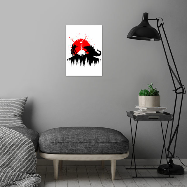 tribute cult  character anime wall art is showcased in interior