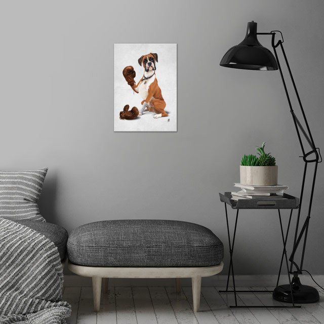 The Boxer (Wordless) wall art is showcased in interior