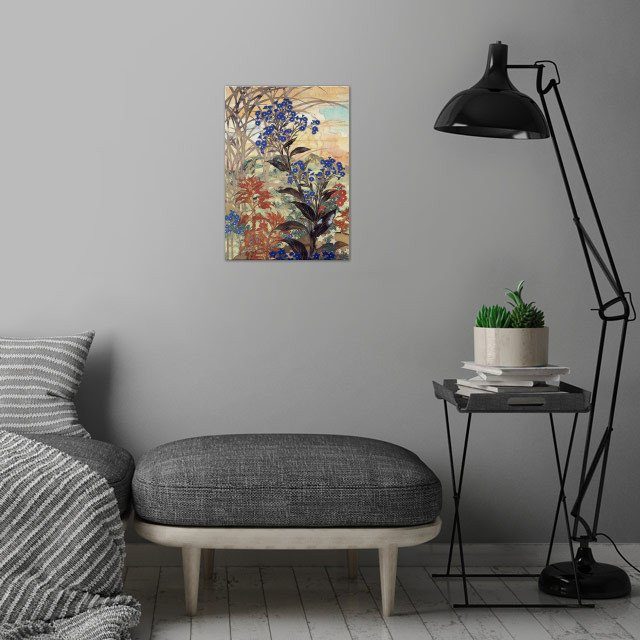 I am deeply inspired by the masters of Japanese Ukiyo-e... wall art is showcased in interior