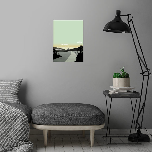 Misty Mountain II | Digital Art, 2016 wall art is showcased in interior